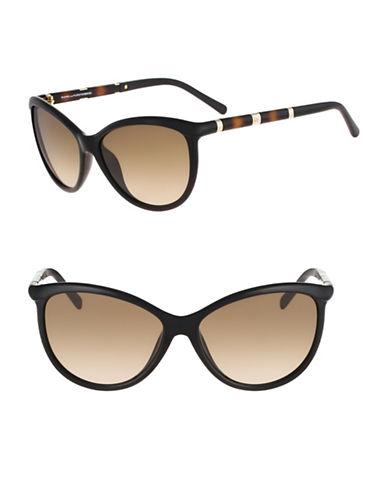 Diane Von Furstenberg Reese 58mm Cat-Eye Sunglasses-BLACK-One Size