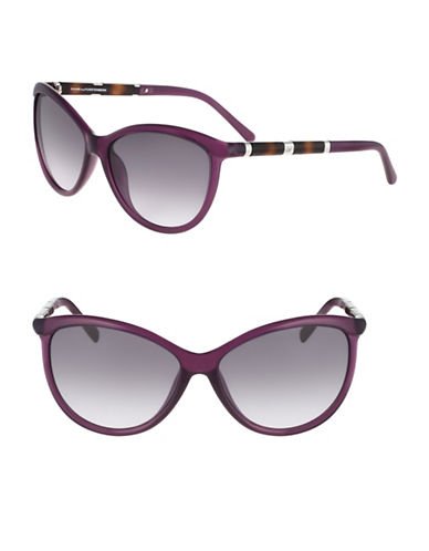 Diane Von Furstenberg Reese 58mm Cat-Eye Sunglasses-PURPLE-One Size