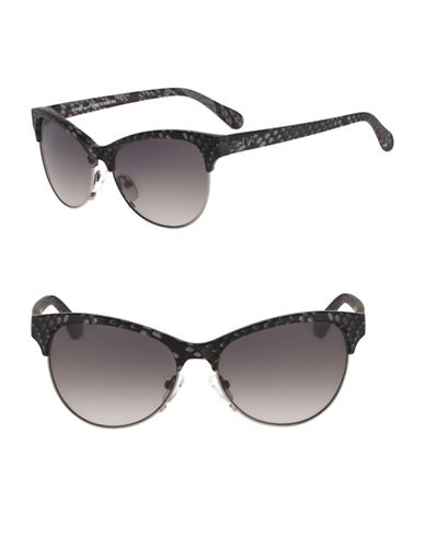Diane Von Furstenberg Lena 56mm Cat-Eye Sunglasses-BLACK-One Size
