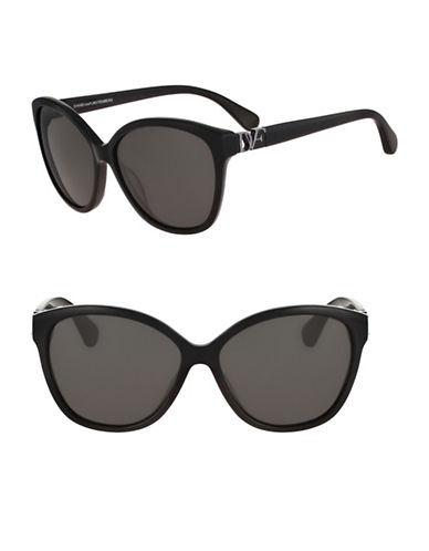 Diane Von Furstenberg Harper 58mm Cat-Eye Sunglasses-BLACK-One Size