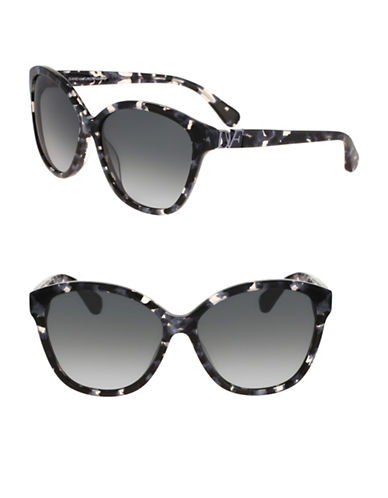 Diane Von Furstenberg Harper 58mm Cat-Eye Sunglasses-GREY-One Size