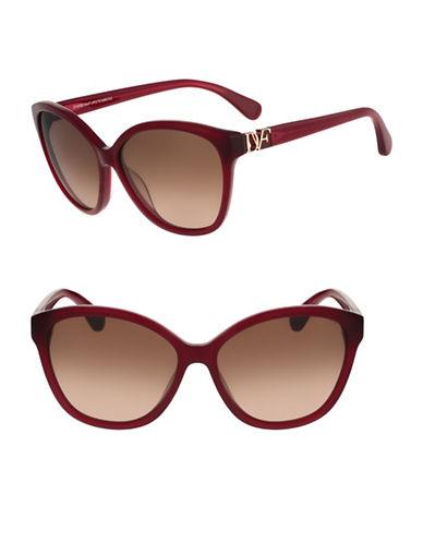 Diane Von Furstenberg Harper 58mm Cat-Eye Sunglasses-OXBLOOD-One Size