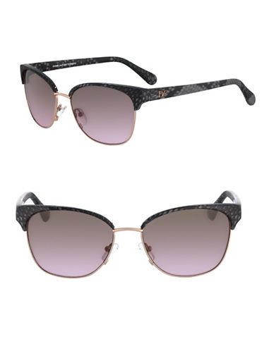 Diane Von Furstenberg 58mm Zianna Sunglasses-ONYX-One Size