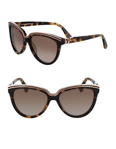 Diane Von Furstenberg 56MM Tortoise Cat-Eye Sunglasses-TORTOISE-One Size
