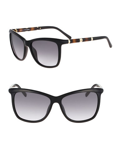 Diane Von Furstenberg 56MM Square Sunglasses-BLACK-One Size