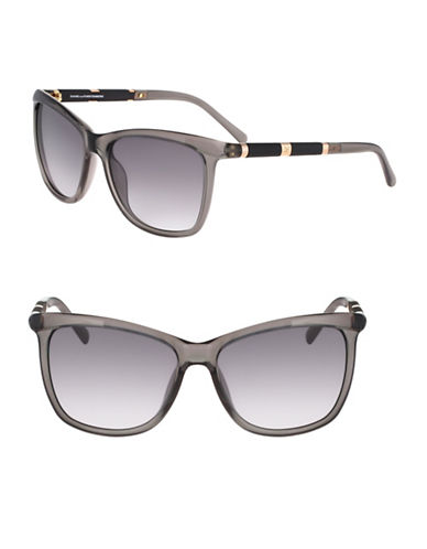 Diane Von Furstenberg 56MM Square Sunglasses-GREY-One Size