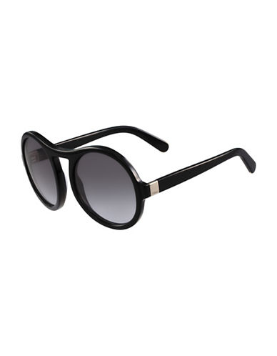 Chloé 57MM Round Sunglasses-BLACK-One Size