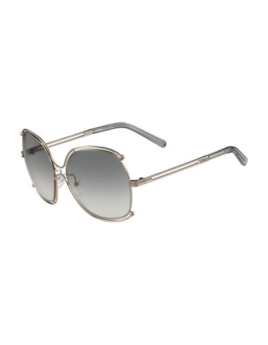 Chloé Wire Border 59mm Square Sunglasses-GREY-One Size