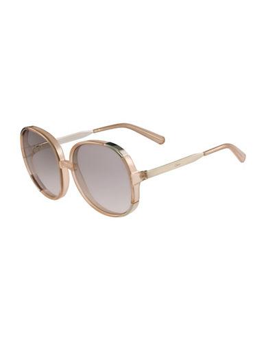 Chloé 61MM Round Sunglasses-ORANGE-One Size