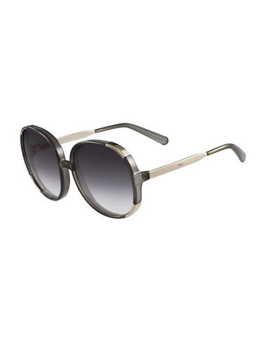 Chloé 61MM Round Sunglasses-GREY-One Size