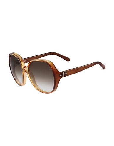 Chloé 59MM Rectangular Sunglasses-CARAMEL-One Size