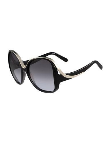 Chloé 59MM Rectangular Sunglasses-BLACK-One Size