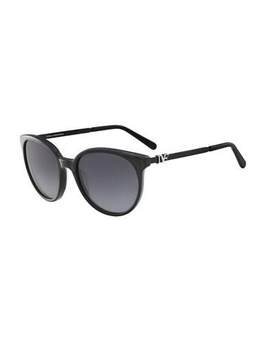 Diane Von Furstenberg Marianna 55MM Round Sunglasses-BLACK-One Size