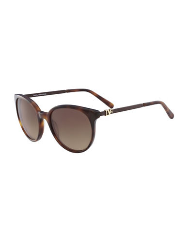 Diane Von Furstenberg Marianna 55MM Round Sunglasses-BROWN-One Size