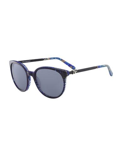 Diane Von Furstenberg Marianna 55MM Round Sunglasses-BLUE-One Size
