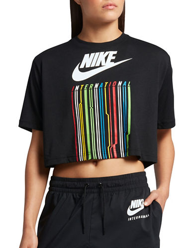 Nike International Casual Comfort Cropped Tee-BLACK-X-Small 89284064_BLACK_X-Small