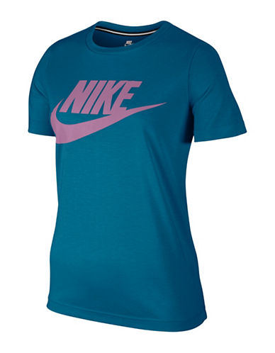 Nike Sportswear Essential Tee-BLUE-Large
