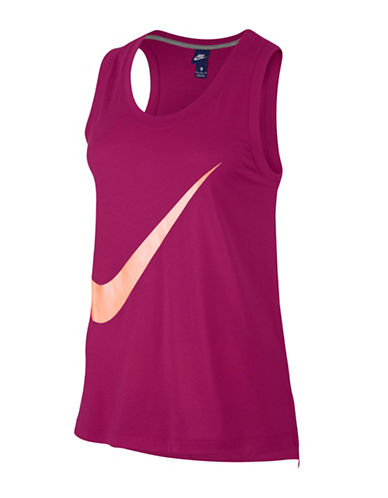 Nike Sportswear Sleeveless Top-SPORT FUSCHIA-Large
