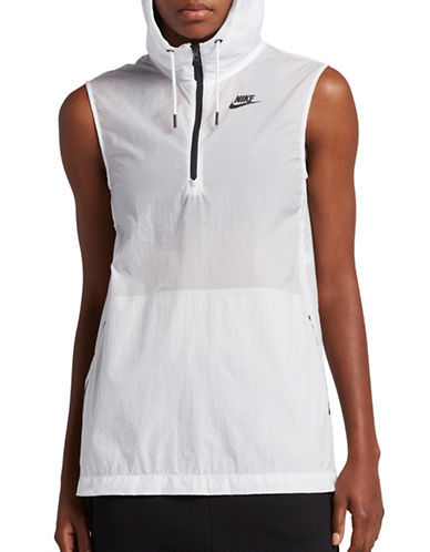 Nike Hooded Vest-WHITE-X-Small