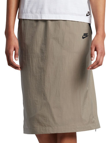 Nike Hyper Mesh Skirt-KHAKI-Medium