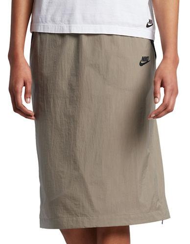 Nike Hyper Mesh Skirt-KHAKI-Small