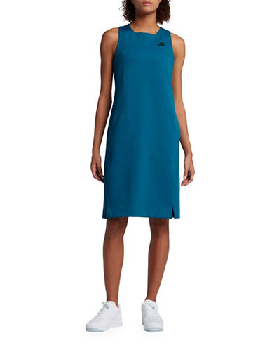 Nike Tech Fleece Dress-BLUE-Medium 89203334_BLUE_Medium