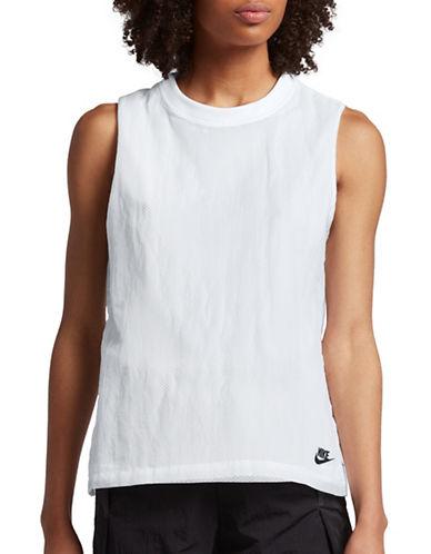 Nike Sportswear Bonded Tank Top-WHITE-Small