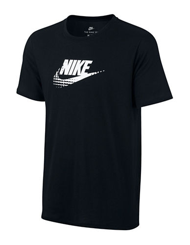 Nike Crew Neck Sportswear Tee-BLACK/WHITE-X-Large 89157368_BLACK/WHITE_X-Large