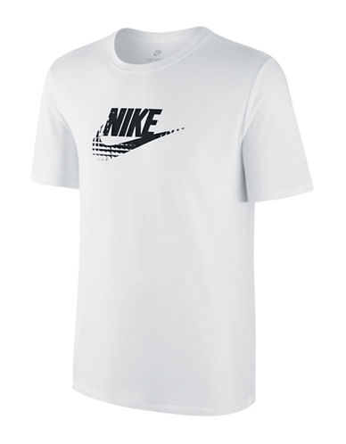 Nike Crew Neck Sportswear Tee-WHITE/BLACK-X-Large 89157373_WHITE/BLACK_X-Large