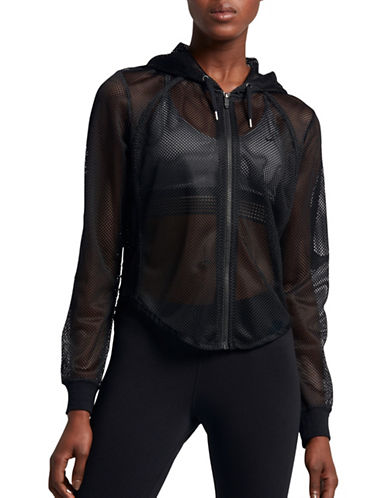 Nike Mesh Zip-Front Hoodie-BLACK-Small 89203187_BLACK_Small