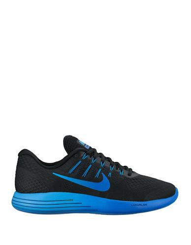 Nike LunarGlide 8 Running Shoes-BLACK/BLUE-9.5 88528404_BLACK/BLUE_9.5