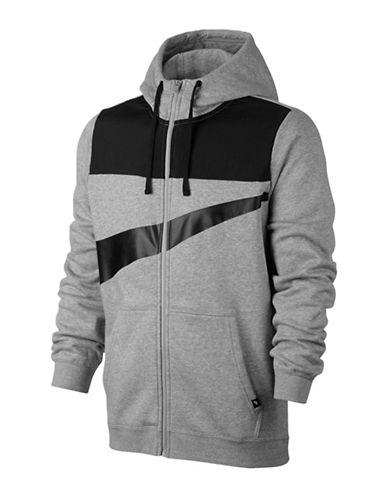 Nike Fleece Hybrid Hoodie-GREY-X-Large 89690788_GREY_X-Large
