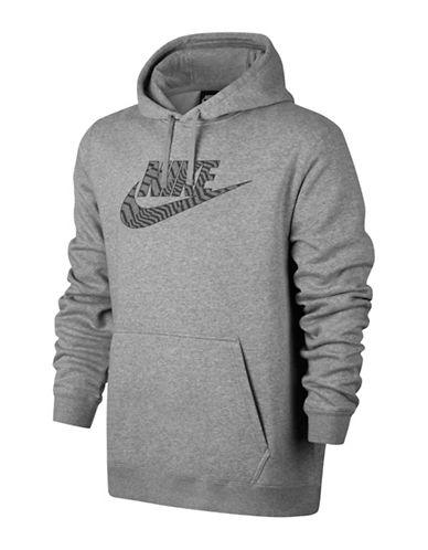 Nike Comfy Fleece Hoodie-GREY-Large 89690850_GREY_Large