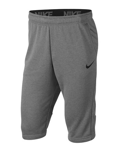 Nike Fleece Dry Training Shorts-GREY-Medium