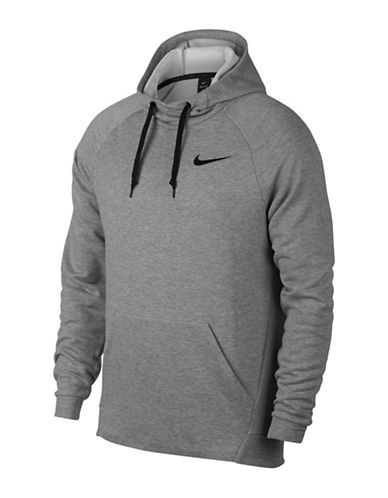 Nike Fleece Dry Training Hoodie-GREY-X-Large
