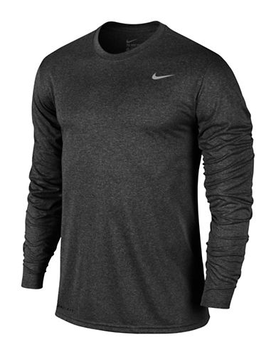 Nike Dry Training Long-Sleeved T-Shirt-GREY-X-Large 89690555_GREY_X-Large
