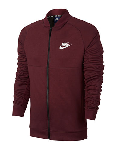 Nike Heathered Advance 15 Jacket-RED-Small
