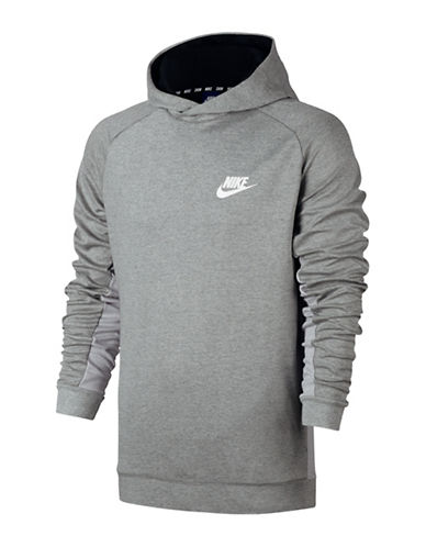 Nike Advance 15 Fleece Hoodie-GREY-Large