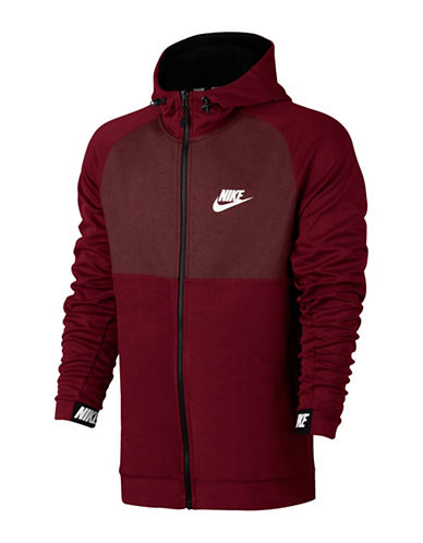 Nike Advance 15 Zip Jacket-RED-X-Small