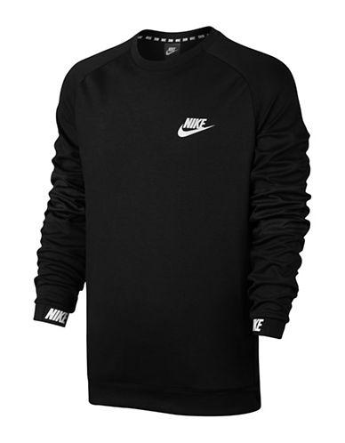 Nike Long-Sleeve Fleece Sweatshirt-BLACK-Medium 89690863_BLACK_Medium
