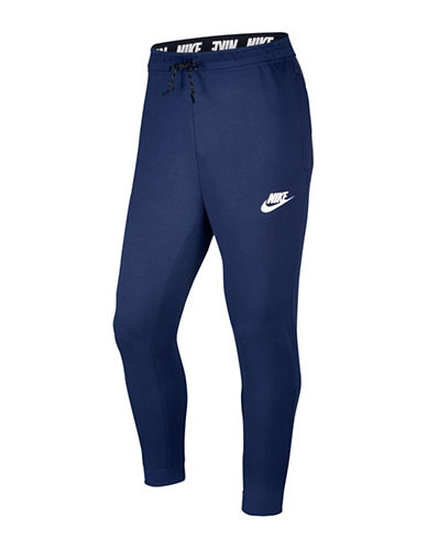 Nike Slim-Fit Fleece Jogger Pants-BLUE-X-Large 89690879_BLUE_X-Large