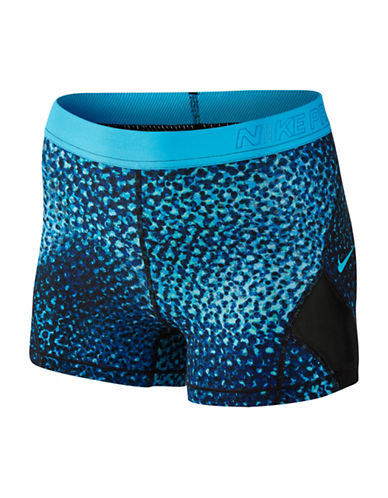 Nike Pro Hypercool Shorts-BLUE-X-Small