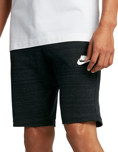 Nike Sportswear Advance 15 Jersey Shorts-BLACK/WHITE-Medium