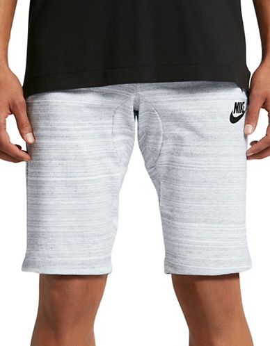 Nike Sportswear Advance 15 Jersey Shorts-WHITE/BLACK-X-Large 89157318_WHITE/BLACK_X-Large