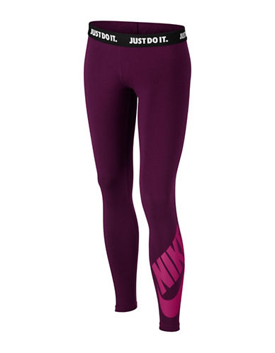 Nike Leg-A-See Jersey Leggings-BERRY-X-Small 89295350_BERRY_X-Small