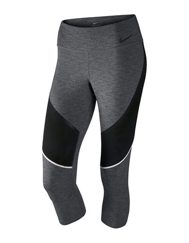 Nike Power Legendary Training Capri-CHARCOAL HEATHER-Medium