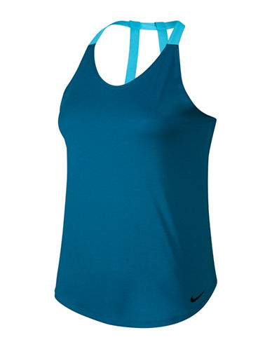 Nike Breathe Training Tank Top-BLUE-X-Large