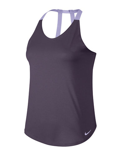 Nike Breathe Training Tank-RAISIN-Large