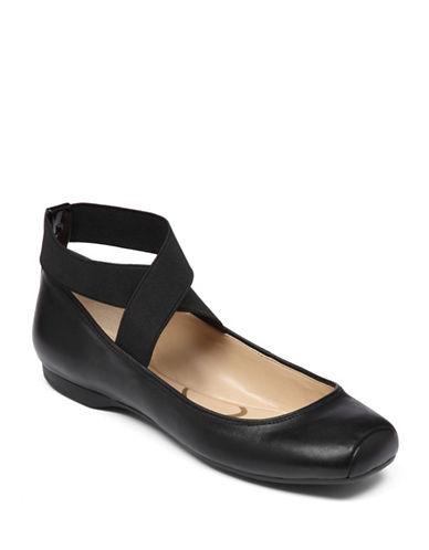 Jessica Simpson Mandalaye Elastic Ballet Flats-BLACK-6