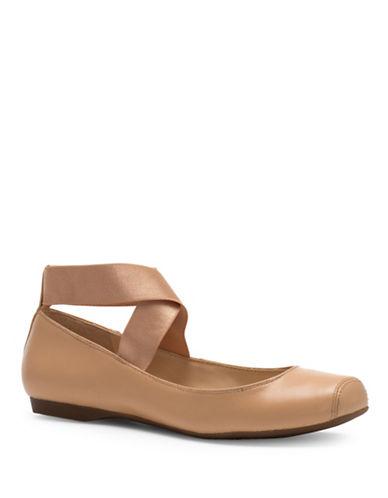 Jessica Simpson Mandalaye Elastic Ballet Flats-NATURAL-8